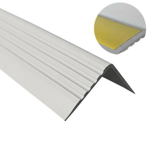 1 3m Profile D Escalier Nez De Marche Adhesif Antiderapant Pvc Gris Rgp 50 X 42 Mm Achat Vente Rampe Main Courante 1 3m Nez De Marche Pvc Gris Cdiscount