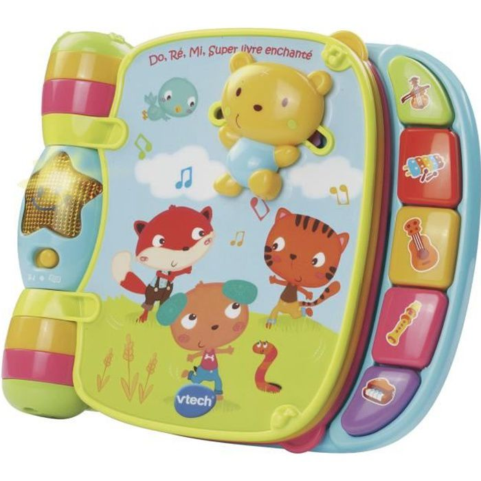Vtech Baby Do Re Mi Super Livre Enchante Bleu