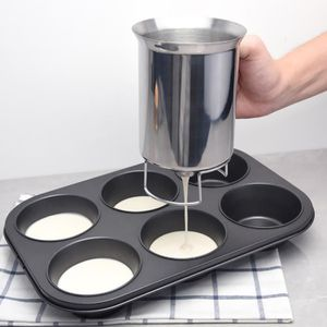 Nouveau Pancake Batter Distributeur en acier inoxydable Maker