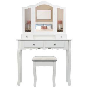 COIFFEUSE Goddess-Coiffeuse table de maquillage en bois avec