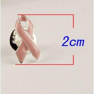 Lot de 5 Pin/'s ruban rose en tissu sur une épingle Lutte contre le cancer