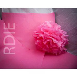PAPIER CREPON - SOIE 24 feuilles de papier de soie Rose Saumon, 50x75cm