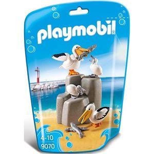 UNIVERS MINIATURE PLAYMOBIL 9070 - Family Fun - Famille de pélicans