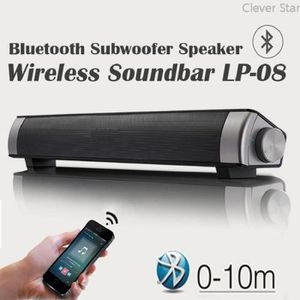 BARRE DE SON Barre de son LP-08 2.1 canaux USB Lecteur MP3 Blue