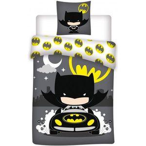 HOUSSE DE COUETTE ET TAIES Batman Pilote  Parure de Lit Enfant  H Gris