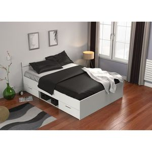 lit double avec rangement achat vente lit double avec. Black Bedroom Furniture Sets. Home Design Ideas