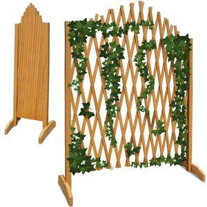 TREILLE - TREILLIS Treillage jardin brun 180x107cm support plantes gr