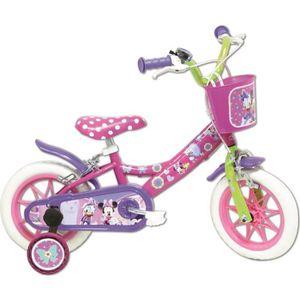 VÉLO ENFANT DISNEY Vélo 12'' MINNIE - Rose - Enfant fille