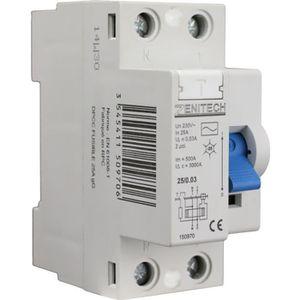 DISJONCTEUR ZENITECH Interrupteur différentiel type AC 40A 30m