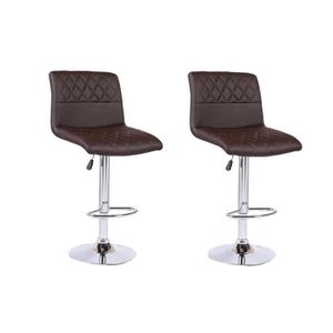 tabouret de bar pas cher marron