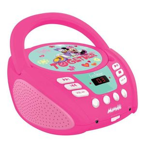 RADIO CD ENFANT Lexibook- Radio Lecteur CD Minnie, RCD108MN, Rose