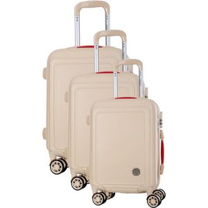 SET DE VALISES COCONUT Set de 3 Valises 8 Roues S/M/L Beige