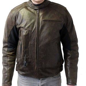 BLOUSON - VESTE Blouson cuir Airbag HELITE ROADSTER Marron