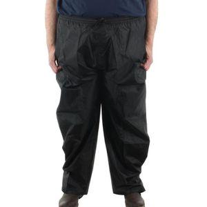 PANTALON Pantalon de pluie grande taille homme KAM Noir gra