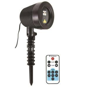 PROJECTEUR LASER NOËL Projecteur Laser de Noël d'extérieur + télécommand