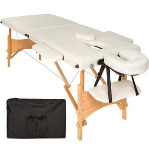 Table de massage TECTAKE Table de Massage Pliante Bois 2 Zones Port