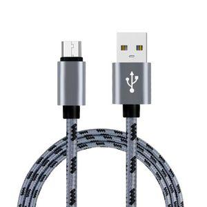 CÂBLE TÉLÉPHONE 2m grille tressée coton rapide 3.1 USB type C type