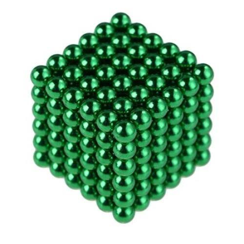 Billes Magnétiques Anti-Stress, 216 Magnet Balls, Billes Aimantées 5mm, Cube magnétique, couleur verte
