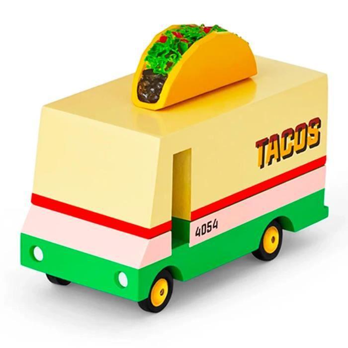 Petites voitures et mini modèles rétro classiques en bois Candylab Candycar Véhicules design pour enfants et adultes - Taco Van
