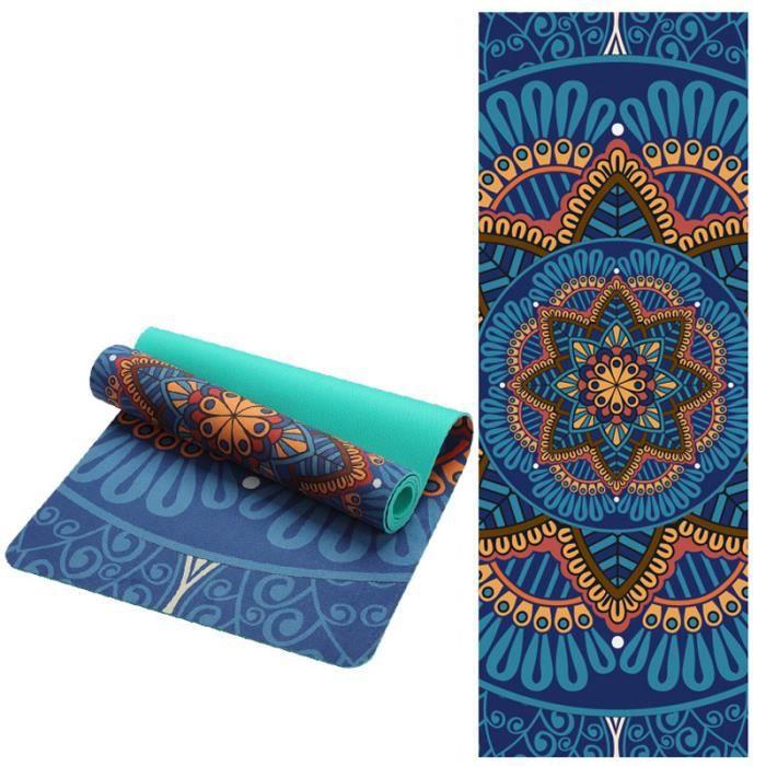 TAPIS DE YOGA Tapis de yoga en daim à motifs de lotus 5 mm