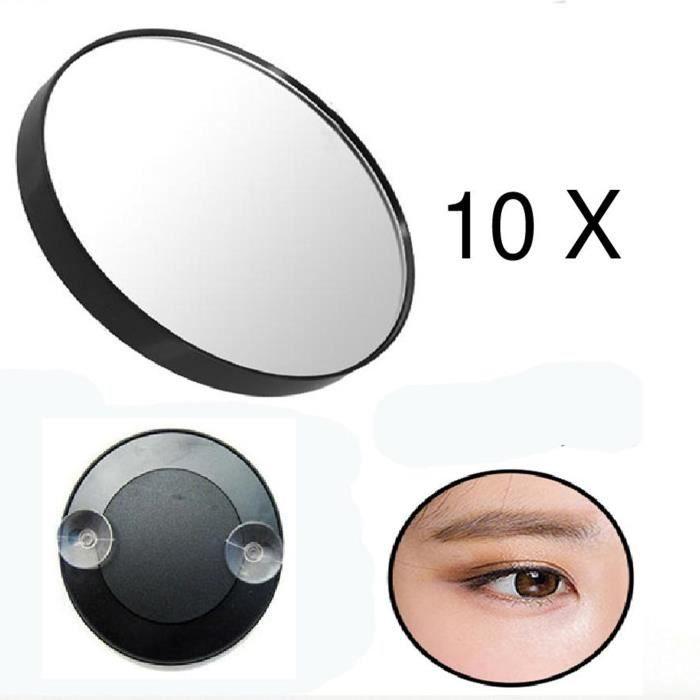 Miroir grossissant (x 10) avec ventouse