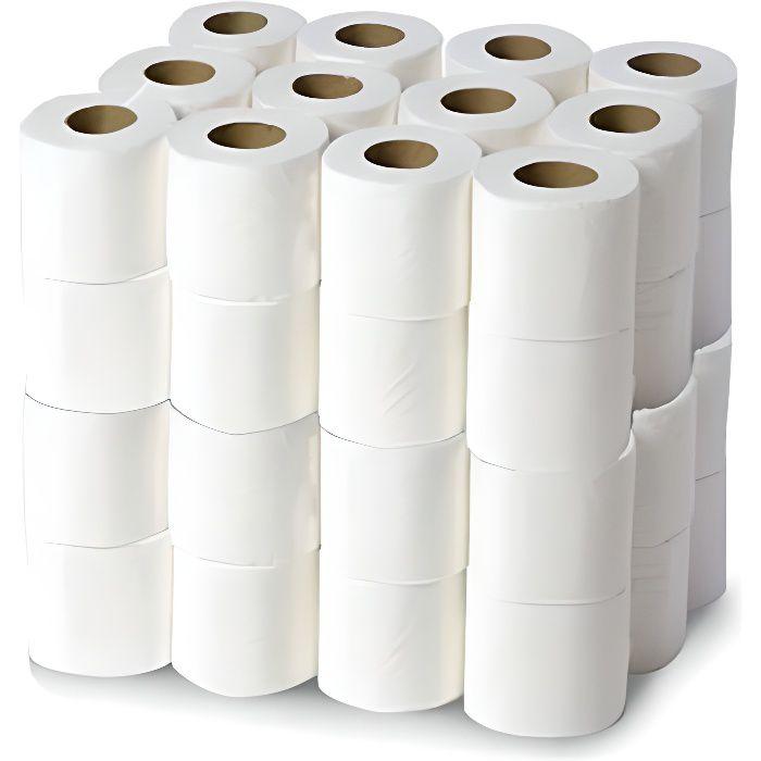 Papier toilette gaufré 3x16g/m² - 48 rouleaux 3 plis - 200 formats 22x11cm