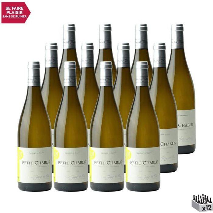 Petit Chablis Blanc 2019 - Lot de 12x75cl - Domaine Jolly - Vin AOC Blanc de Bourgogne - Cépage Chardonnay