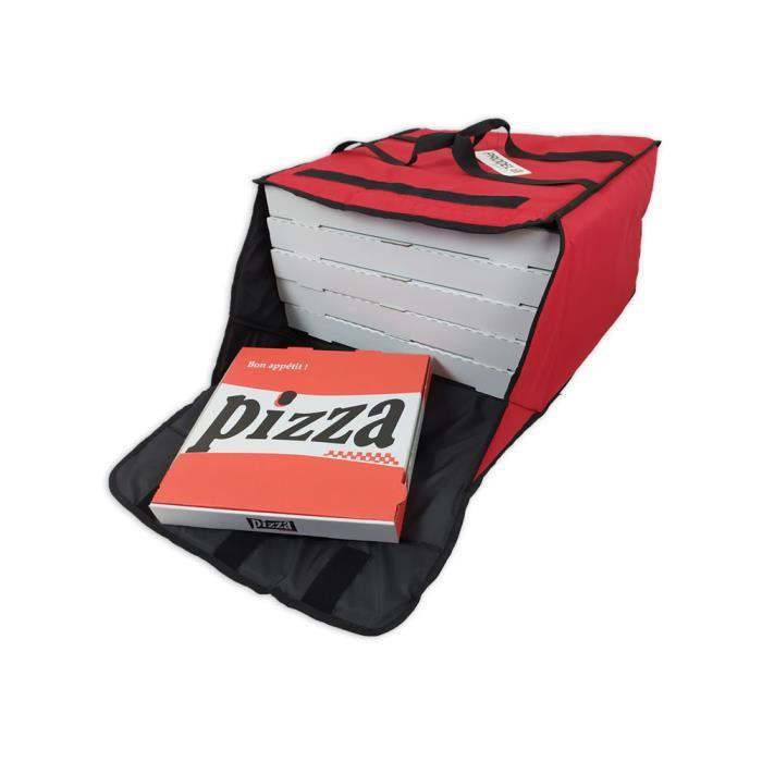 Sac de livraison pour 4/5 boites de pizzas 50x50cm