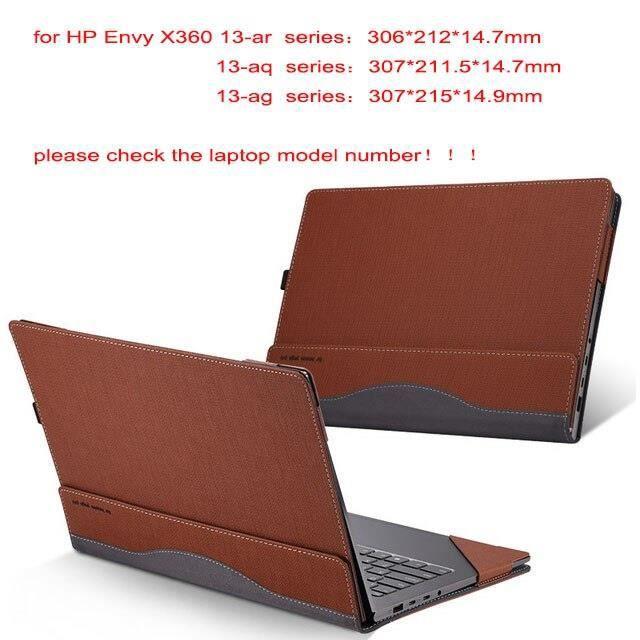 Sacoches & Housses Ordinateur,Housse d'ordinateur portable détachable pour Hp Envy X360 13.3 pouces - Type brown-envy 13-ah series