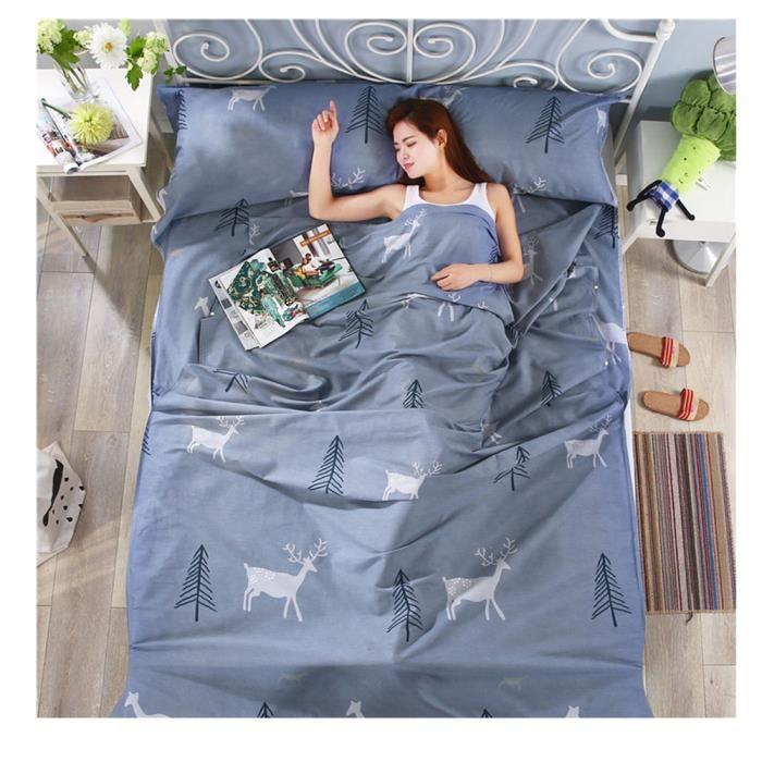 Modèle moderne ultra-léger Sac de couchage pour les voyages, la randonnée, les hôtels, Maison, pour Adulte Enfants 2 80*230cm