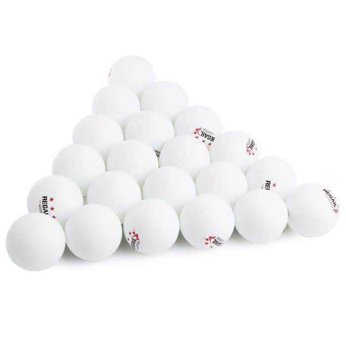 60pcs Balles de ping pong , balles de régulations avancées d'entraînement (blanc)