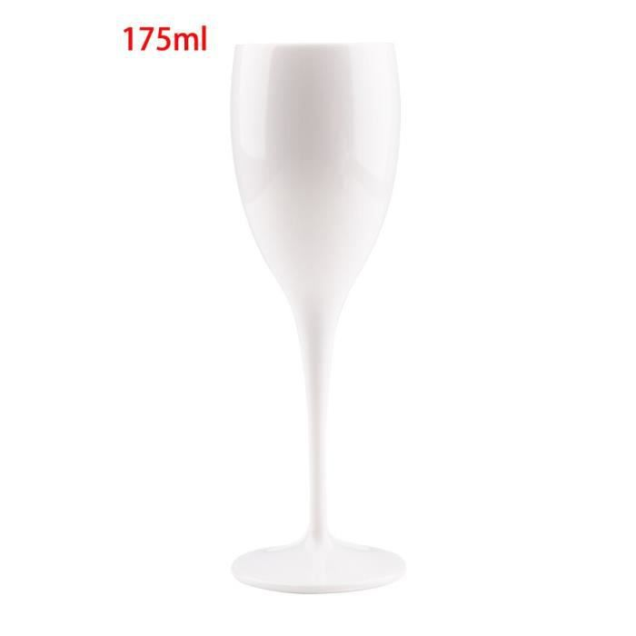 Moet – flûtes à Champagne en plastique, verres à Champagne en acrylique blanc, verres à vin transparents, verres à pied,*DE14186