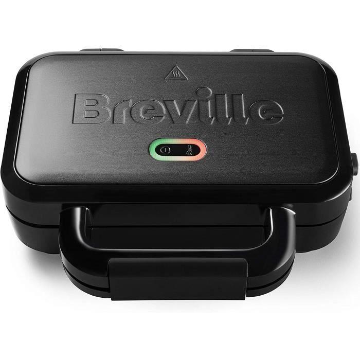 Appareil à croque-monsieur Ultimate Deep Fill Breville - Appareil à croque-monsieur 2 tranches - Plaques anti-adhésives amovibles -