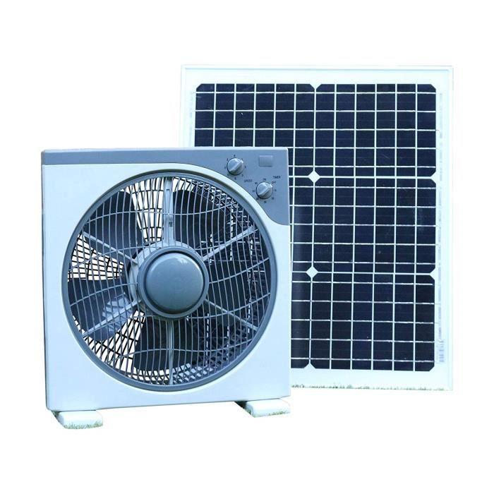 PK Green Ventilateur Solaire 12V 20W pour Serre, Camping Car, Voiture, Bateau, Maison, Abri de Jardin, Caravane, Garage - Ventila