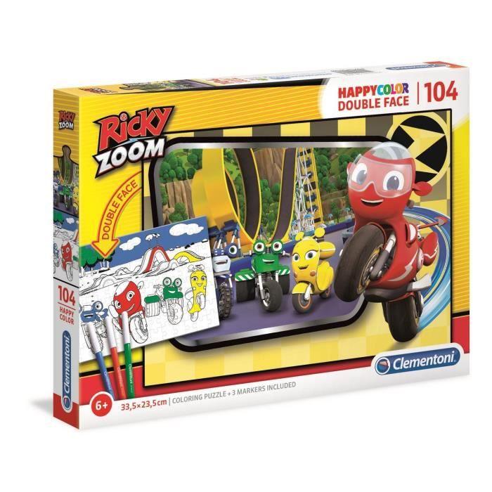 Clementoni - 25706 - Ricky Zoom - 104 pièces à colorier