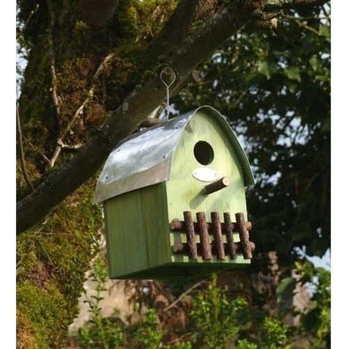 Nichoir maison en bois toit arrondi