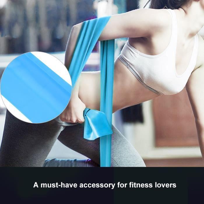 2m Sangle de yoga bande de résistance accessoire de ceinture d'exercice de remise en forme (bleu clair)_DBA