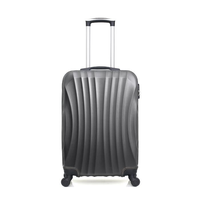 HERO – VALISE WEEK-END - ABS – 60cm – 4 roues – MOSCOU-A – GRIS FONCE