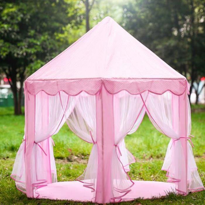 Rose Tente enfant Chateau Disney Princess jeu de tente Portable Tent activité fille-140*135cm
