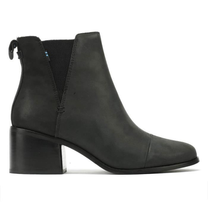 TOMS Esme Womens Black Leather Boots-UK 4