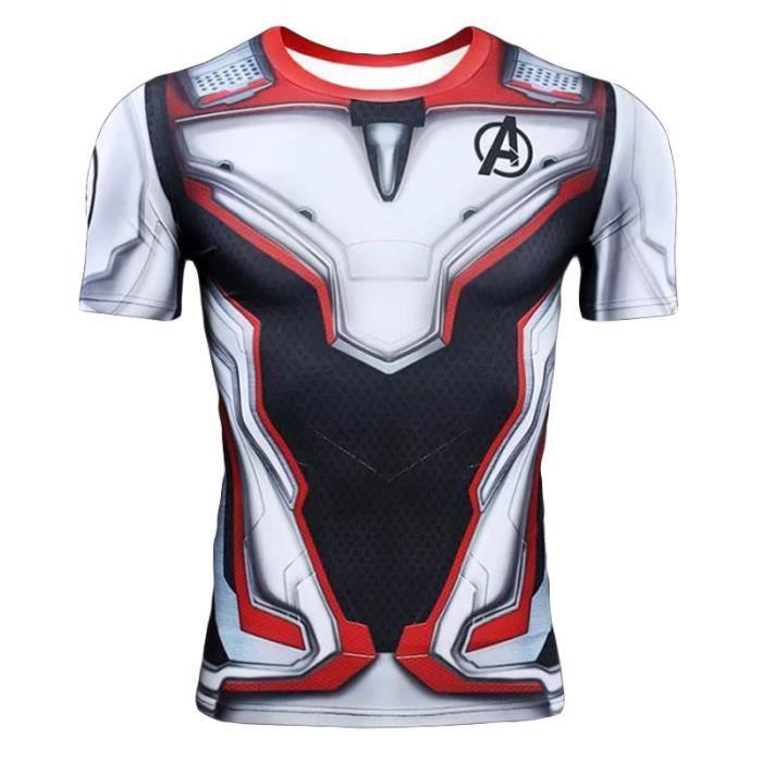 Avengers Endgame T shirt Quantum Mode 3D Imprimé Col Rond Manches Courtes Super Héros Tee Shirt