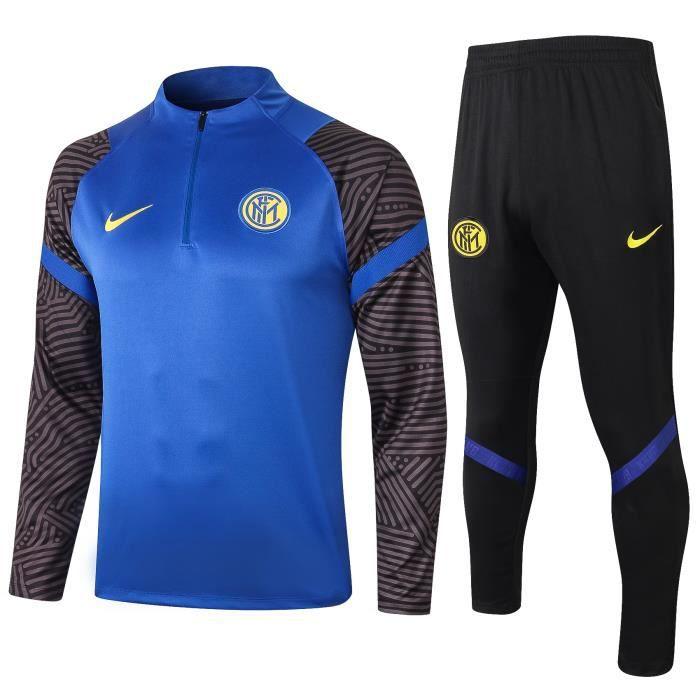 Nouveau Survêtement Training Inter Milan Inter Milan Maillot de Foot Football Soccer Suit 2020 2021 Pas Cher pour Homme
