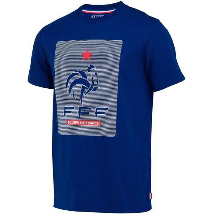 Tee-Shirt Equipe De France logo Enfant-Licence Officielle-Bleu
