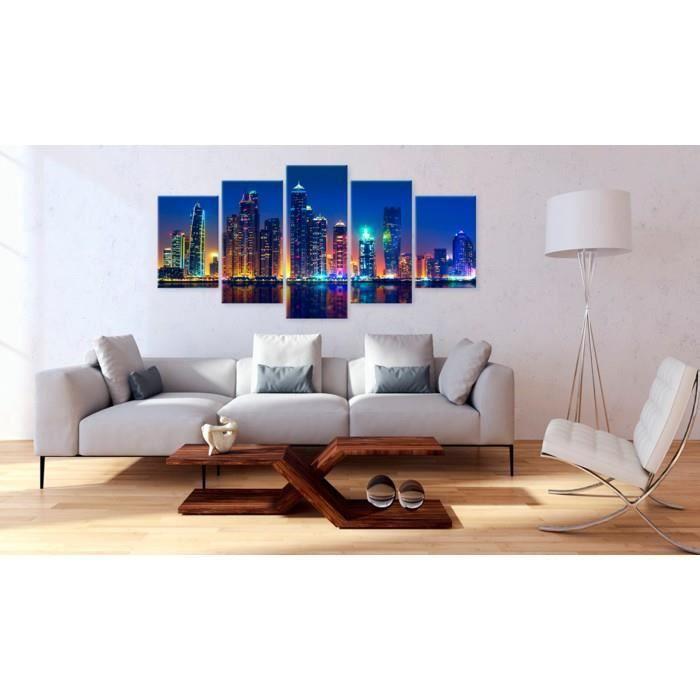 Tableau Villes du monde Villes Magnifique de 200x100 Nights in Dubai