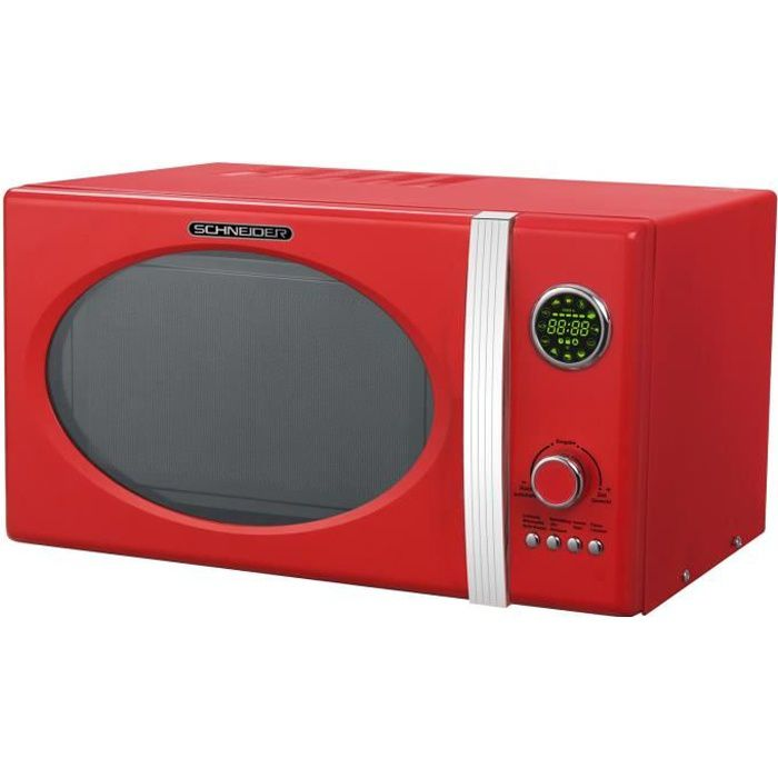 Schneider MW 823G FR Grill Combi micro-ondes Rouge Feu