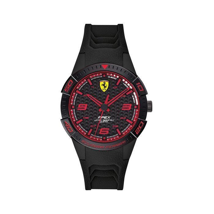 Scuderia Ferrari Homme Analogique Quartz Montre avec Bracelet en Silicone 0840032 7715
