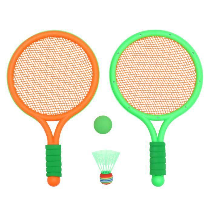1 ensemble de raquette de badminton pratique légère créative compacte pour tout-petits RAQUETTE DE BADMINTON - CADRE DE BADMINTON