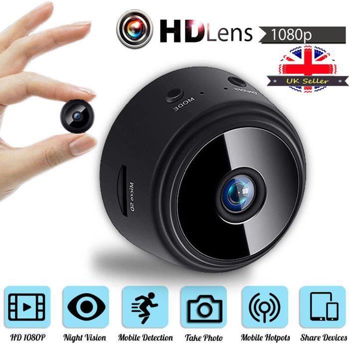 A9miniDV WIFI Mini Caméra Espion HD1080P Sports DV avec Vision, 1080P HD WIFI vision nocturne magnétique sans fil DV WIFI caméra