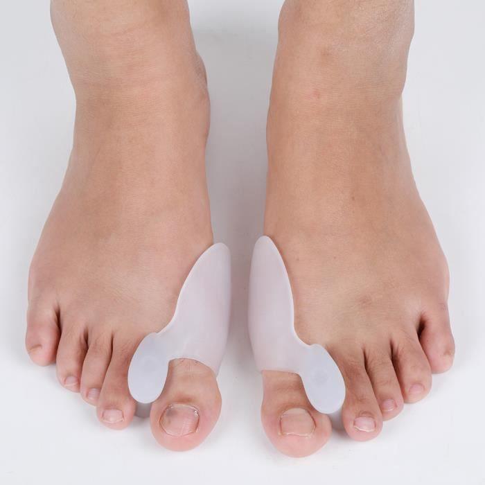 VGEBY Correcteur hallux valgus amélioré Jour et nuit avec ceinture de correction pour gros orteils en os Silicone