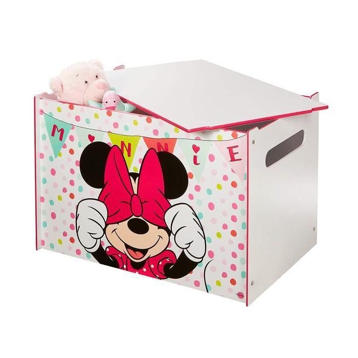 Coffre à jouets coffre de rangement Disney Minnie Mouse